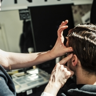 Backstage-at-Cold-Method-AW-2013-Model-is-getting-groomed