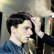 Backstage-at-Cold-Method-AW-2013-Model-is-getting-hair-sprayed