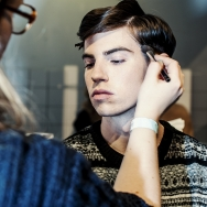 Backstage-at-Cold-Method-AW-2013-Model-is-getting-make-up-close-up