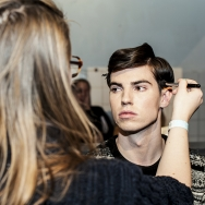 Backstage-at-Cold-Method-AW-2013-Model-is-getting-make-up