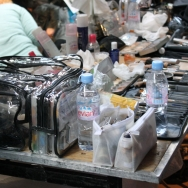 Backstage Cold Method ss12 make-up table