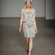 Dido-Yland-ss2014-grey-dress-with-red-graphic-lines