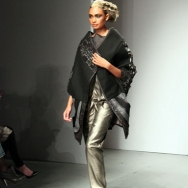 Gomes ESSER ss12 Model rocking the catwalk