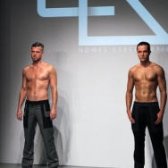 Gomes ESSER ss12 Shirtless male models at the show
