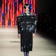 Marga Weimans A/W 2013 - Model in boxy black ensemble