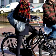 Fashion Population_Amsterdam Street Style_Bicycles_Checked Scarf