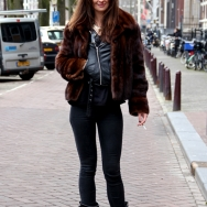 Fashion Population_Amsterdam Street Style_Leather Fur Jacket_Boots