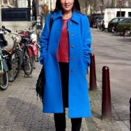 Fashion Population_Amsterdam Street Style_Bright Blue Coat