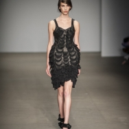 Rebecca-Ward-ss2014-Black-balloon-dress-with-frills