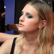 Tony Cohen ss12 Backstage - Model during make-up