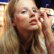 Tony Cohen ss12 Backstage - Model in make-up