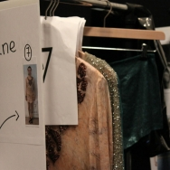 Tony Cohen ss12 Backstage - Racks of clothes