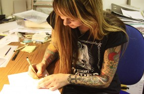 Local dealer in tattoos: Lina Stigsson