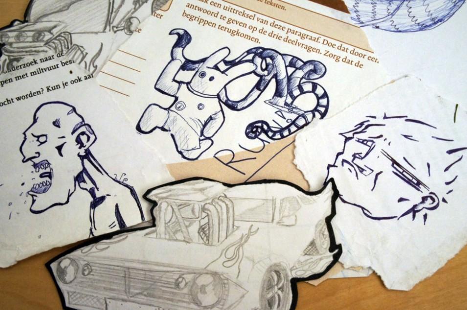 Everybody can be an artist in Marieken van Huijstee's Neurotic Scribbles at Zeezout