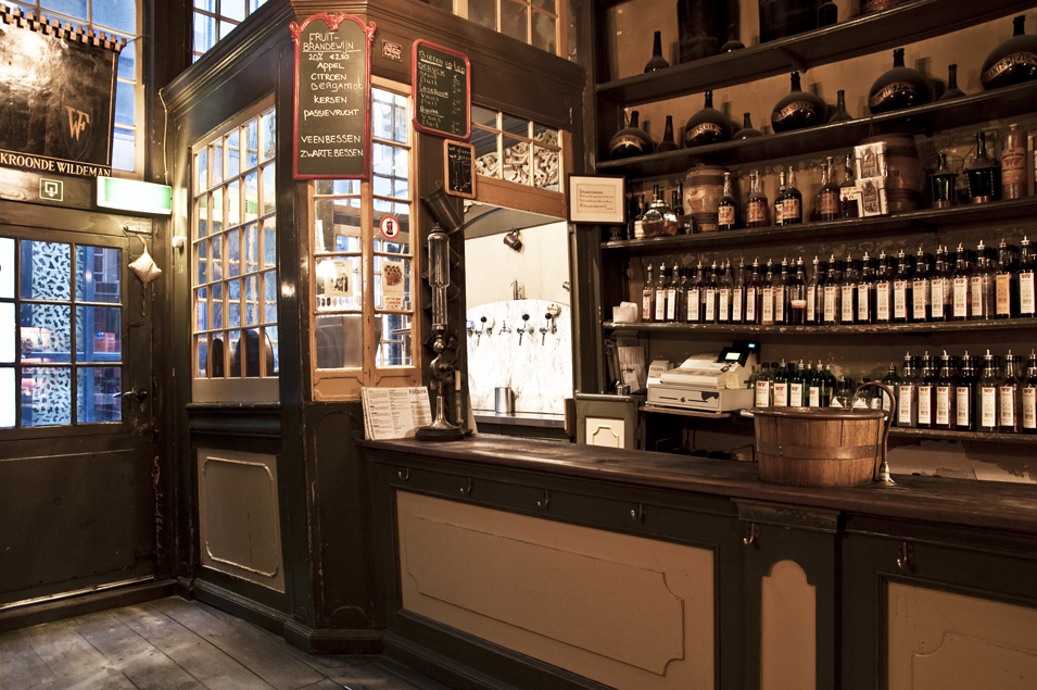Wynand Fockink, the oldest distillery + tasting room (since 1679) in Amsterdam