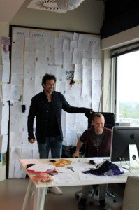 Tony Cohen with assistant designer Lars Willhausen
