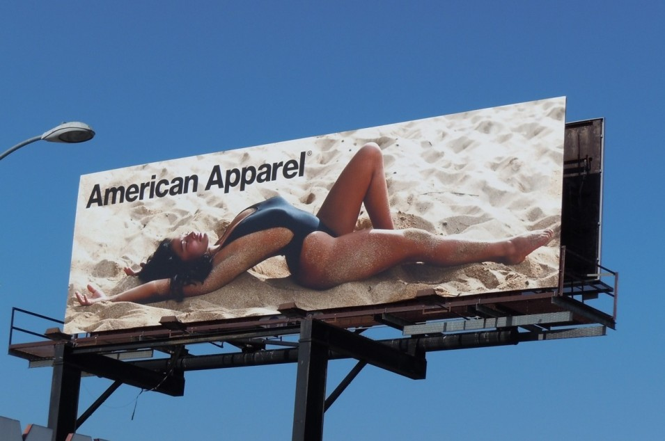 Shopping madness at American Apparel's warehouse sale