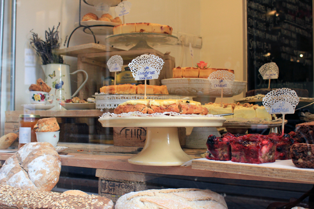 Window with baked goods