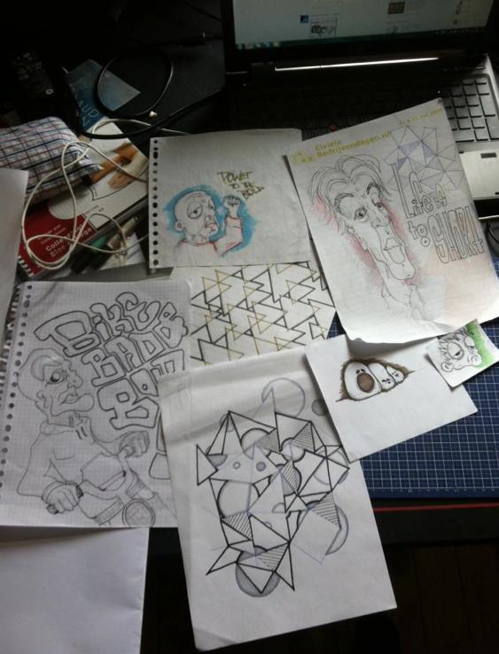 Marieken Huijstee - Schermafbeelding Neurotic Scribbles work in progress