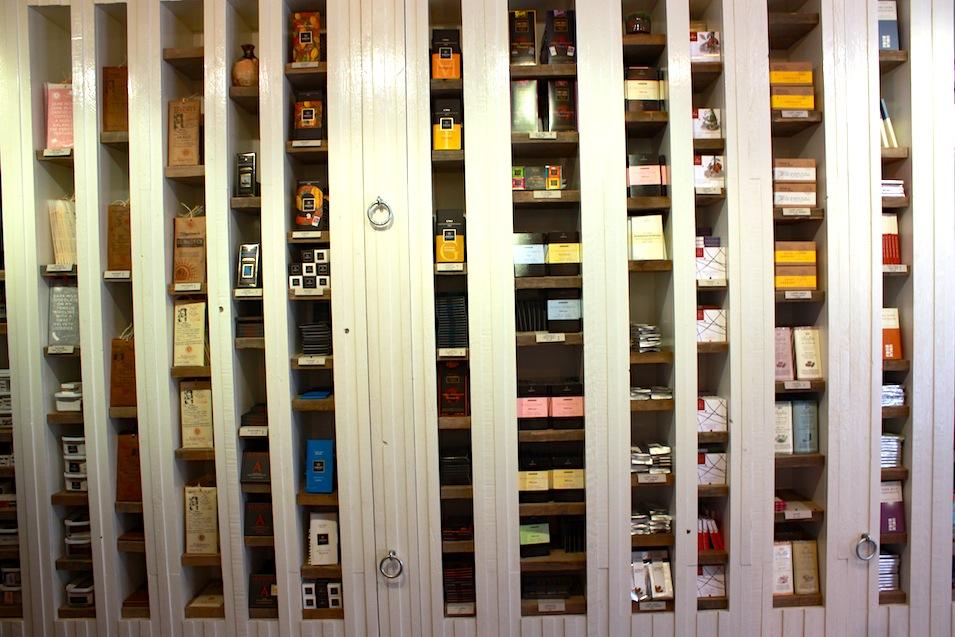 chocolate shelves