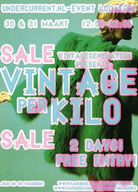 Vintage per kilo flyer