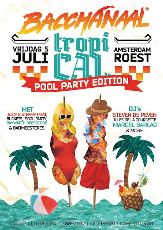 Flyer Roest Amsterdam Pool Party