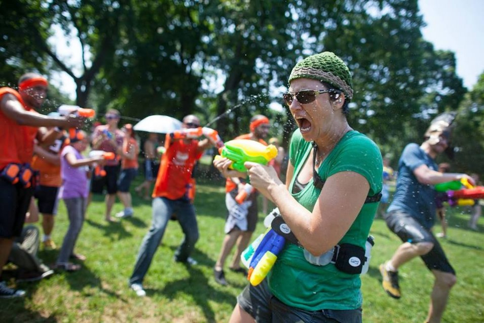Get wet and stay dry with the Water Battle